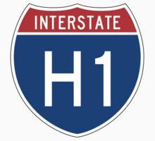 Interstate Sign H1, Hawaii Kids Tee