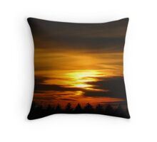 The Northern sunset Throw Pillow