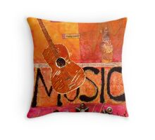 MUSIC Makes Me Wanna Dance Throw Pillow