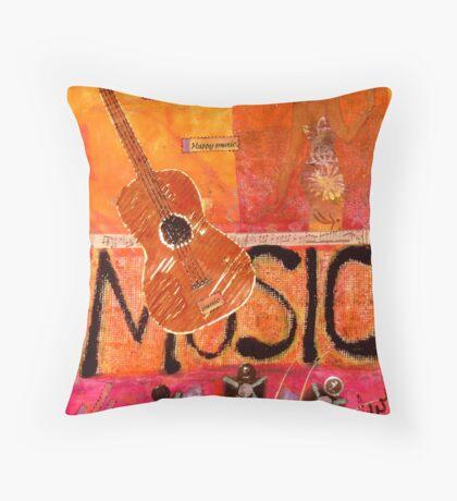 MUSIC Makes Me Wanna Dance Throw Pillow