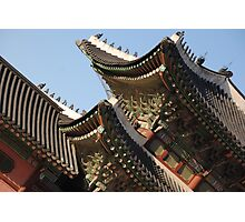 Korean Palace Roof II Photographic Print