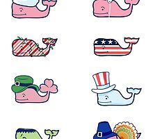 Vineyard Vines Festive Whales  by Emmycap