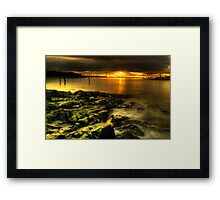 Rocky view towards the Forth Bridges Framed Print