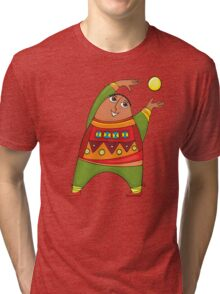 cheerful man with a ball Tri-blend T-Shirt