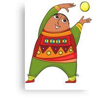 cheerful man with a ball Canvas Print