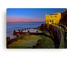 Coogee beach baths Canvas Print
