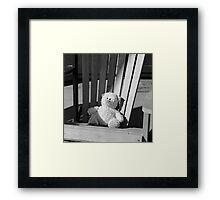 Sad Bear Framed Print
