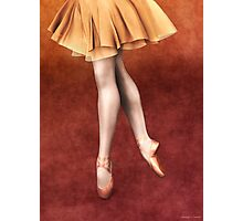 Graceful Ballerina in Floaty Skirt and Pointe Shoes Photographic Print