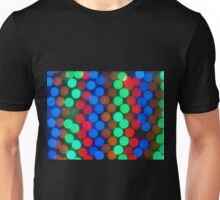 Defocused and blurry image of multicolored lights Unisex T-Shirt
