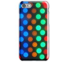 Defocused colored lights iPhone Case/Skin
