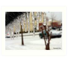Frozen Rail... Art Print
