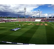 Edgbaston Test, Day One. Photographic Print