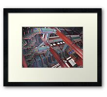 Korean Palace Ceiling Framed Print