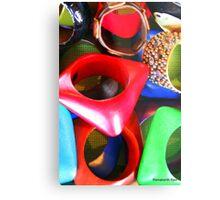 African Jewellery; Multi-Colored... Metal Print