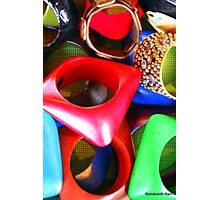African Jewellery; Multi-Colored... Photographic Print