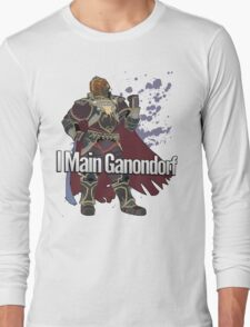 I Main Ganondorf - Super Smash Bros. Long Sleeve T-Shirt