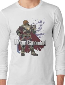 I Main Ganondorf - Super Smash Bros. Long Sleeve T-Shirt