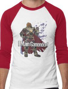 I Main Ganondorf - Super Smash Bros. Men's Baseball ¾ T-Shirt