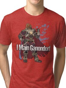 I Main Ganondorf - Super Smash Bros. Tri-blend T-Shirt