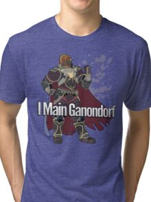 I Main Ganondorf - Super Smash Bros. Tri-blend T-Shirt