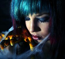Along came a spider who sat down beside her..... by BlackSunshine