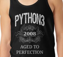 White on Black Vintage Design for Python 3 Advocates Tank Top