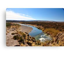 The Border Form Above Canvas Print