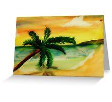Serene Beach, watercolor Greeting Card