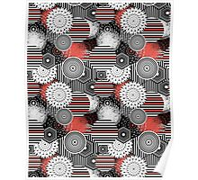 abstract elements pattern Poster