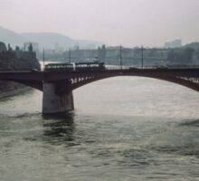 Bridge on Rhine Basel Switzerland 19840629 0006m  Sticker
