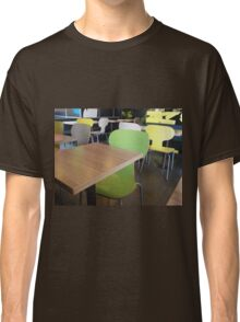 The interior of the restaurant fastfood Classic T-Shirt