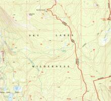 USGS Topo Map Oregon Devils Peak 279628 1998 24000 Sticker