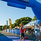 Kingscliff Triathlon 2011 Finish line B5898 by Gavin Lardner