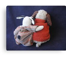 Boris & Errol Cuddles Canvas Print