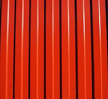 Red metal corrugated sheet metal by vladromensky