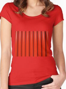 Red metal corrugated sheet metal Women's Fitted Scoop T-Shirt