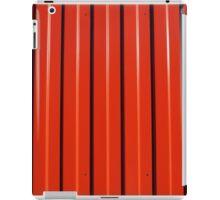 Red metal corrugated sheet metal iPad Case/Skin