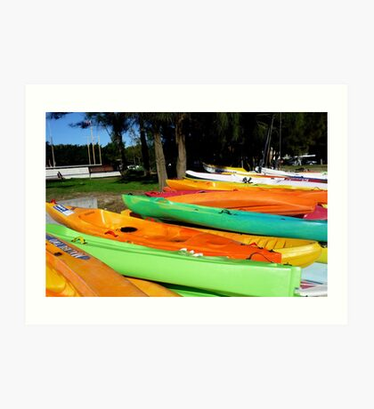 Canoes Ready to Go - Rose Bay, Sydney, Australia Art Print