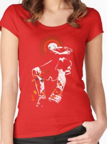 girl in a short red skirt Women's Fitted Scoop T-Shirt