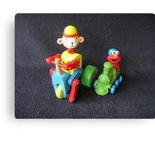 Monkey & Elmo Canvas Print