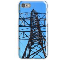Bottom view of the high-voltage metal tower iPhone Case/Skin