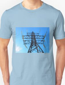 Bottom view of the high-voltage metal tower T-Shirt