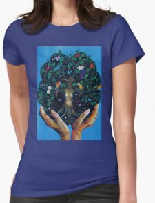 Gaia-Tree of Life Womens Fitted T-Shirt