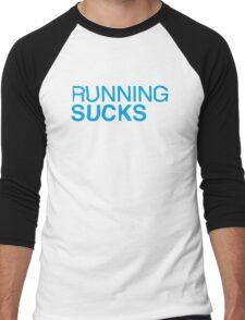 RUNNING SUCKS - Cyan Men's Baseball ¾ T-Shirt