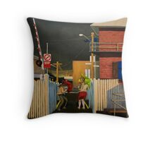 Dust Storm at Yarraville Station Throw Pillow