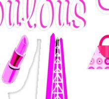PARIS INSPIRED 16TH BIRTHDAY DESIGN Sticker
