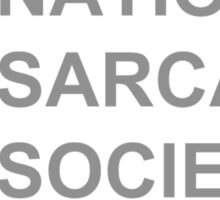 National Sarcasm Society Sticker