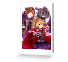 Httyd 2 - Red Riding AU Greeting Card