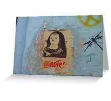 Mona Gordita Greeting Card