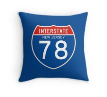 Interstate Sign 78, New Jersey Throw Pillow